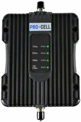 Pro-Cell 5-Band Wireless Cell Phone Signal Booster Car RV Truck AT-T Verizon