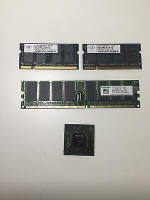 Mixed lot of RAM DDR GPU Chip for job