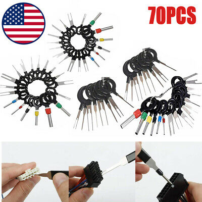 70Pcs Terminal Ejector Kit Auto Electrical Wiring Connector Repair Removal Tools