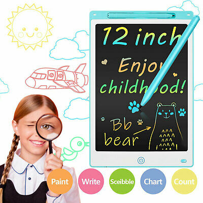 12inch LCD Writing Tablet Electronic Colorful Doodle Board Drawing Pad Kids Gift