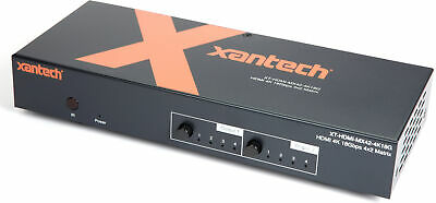 Xantech HDMI 2-0 4x2 Matrix with Audio Breakout and EDID Management