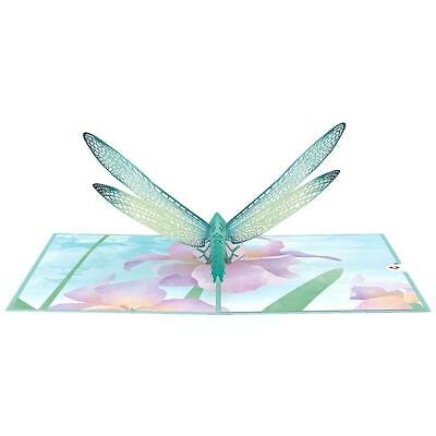 3D up Dragonfly with Flowers Card-Mothers day Birthday Get well or any