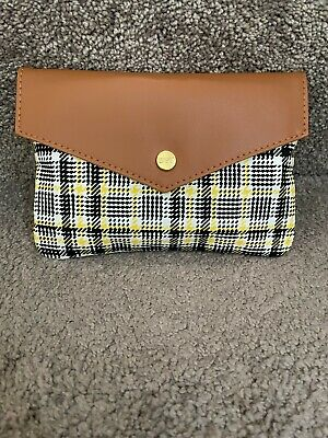 Ipsy September Back to School Make up Glam bag only Plaid wyellow
