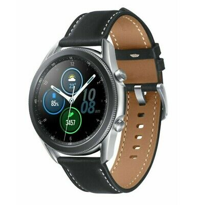 Samsung Galaxy Watch3 R840 45mm Stainless Steel Case with Leather Strap - Silver