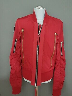 CO LAB Amsterdam Once We Were Wariorrs Bomberjacke Jacke Gr. M Rot Buttons TOP