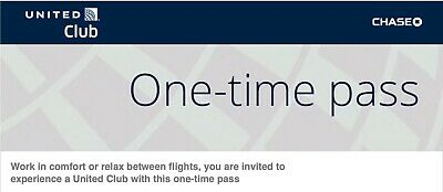 United Club One-time Pass until December 02 2021