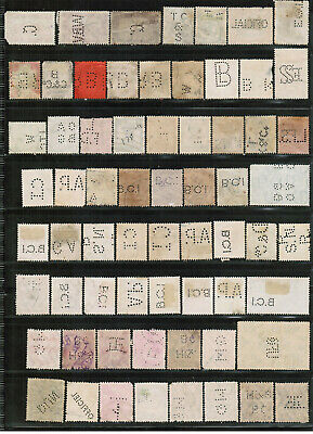 WORLDWIDE PERFIN Collection 174 diff  Used Greece to Yugoslavia some fancies PF3