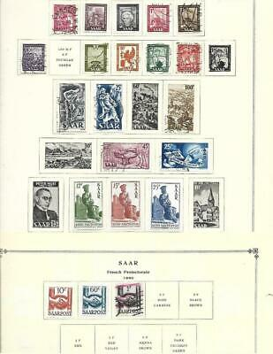 Small Mint Used Saar Collection On Scott Album Pages - SEE