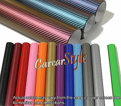 【Bubble/AIR Free】3D【Carbon Fibre Vinyl】 ALL COLOUR /ALL SIZE Wrap Textured 4 CAR