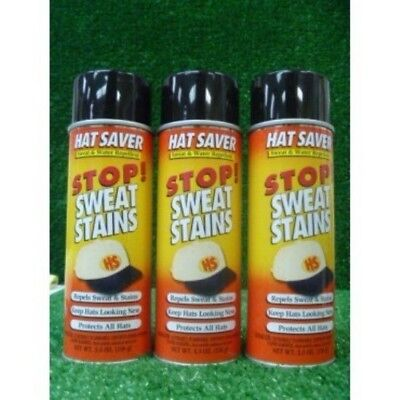 Hat Saver Stop Sweat Stains - 3 Cans