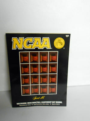1990 NCAA Sweet 16 Mens Basketball Program Meadowlands  March 22-24 FREE SHIP