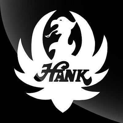 Hank Williams Jr Decal Logo Sticker - 17 COLORS - 10 SIZES 3 inch to 12 inch