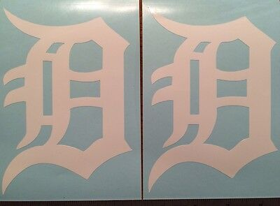 Detroit Tigers Old English D 2 Pack-White Vinyl Decal 4x 5-75FREE SHIPPING
