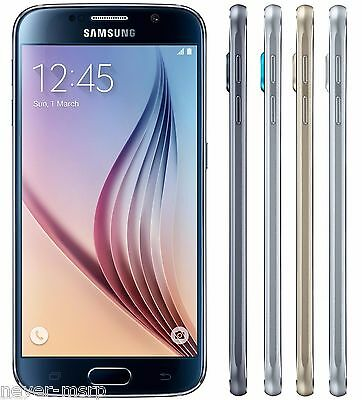 Samsung Galaxy S6 SM-G920F FACTORY UNLOCKED 5-1 QHD - Black White Blue Gold
