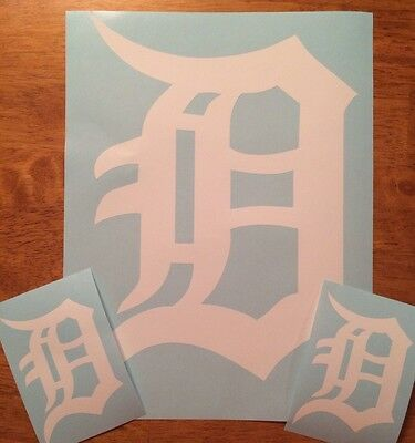 Detroit Tigers Old English D 3 Pack  Vinyl Decal 12- 2 4FREE SHIPPING