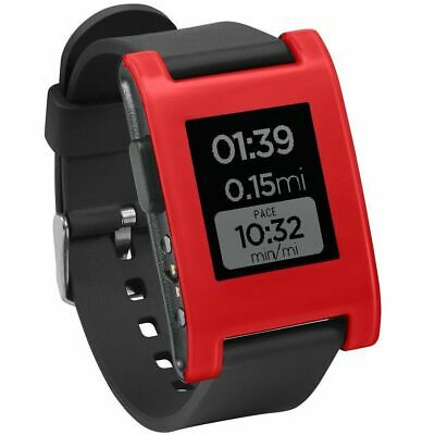 Pebble Smartwatch Cherry Red TPU Rubber Band