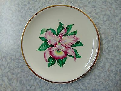 Paden City Pottery MODERN ORCHID Bread Plate 6 12 Inches