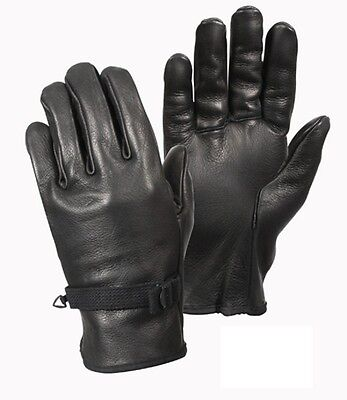 Rothco 3383 D-3A Leather Driving Gloves -Adjustable Wrist Straps