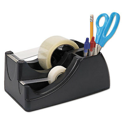 Officemate Recycled 2-in-1 Heavy Duty Tape Dispenser 1 and 3 Cores Black 96690