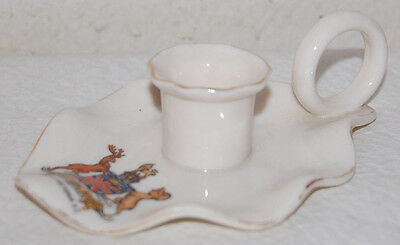 14- WH GOSS ENGLISH CREST ARMS ON CANDLE STICK HOLDER SOUVENIR OF VICTORIA BC