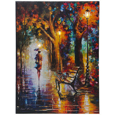 LED Lighted Leonid Afremov End of Patience 12x16 Canvas Wall Art Painting