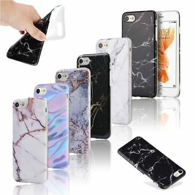 Ultra Slim Marble Pattern Rubber Soft TPU Case Cover for iPhone X678 Plus
