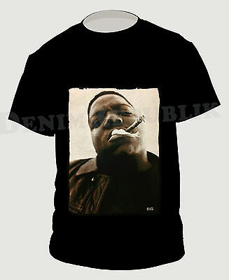 NOTORIOUS B-I-G- Black Mens T-Shirt Biggie Smalls Rapper Weed Hip Hop Tee BIG