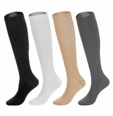 4 Pairs Compression Socks Stockings Graduated Support Mens Womens S-XXL