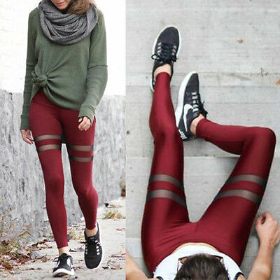 Damen Fitness Yoga Workout Leggings Sporthose Jogging Training Fitnessmode Hosen