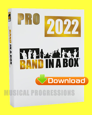 BAND IN A BOX 2020 PRO WINDOWS DIGITAL - AUDIO MUSIC SOFTWARE - NEW FULL RETAIL
