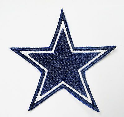 LOT OF 1 NFL DALLAS COWBOYS STAR LOGO EMBROIDERED PATCH IRON-ON ITEM  05