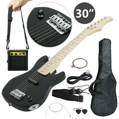 Child Electric Guitar Kids 30 Black Guitar With Amp - Case - Strap and More