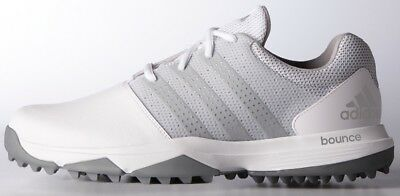 ADIDAS 360 TRAXION GOLF SHOES WHITESILVERSILVER -NEW  2017