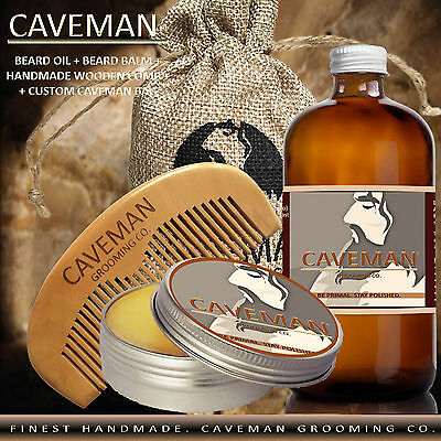 Hand Crafted Caveman® Beard Oil Conditioner - Beard Balm 18 Scents to Choose