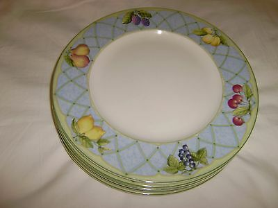6 MIKASA 10 78 Inch Dinner Plates Fruit Rapture Discontinued 2007