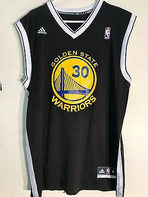 Adidas NBA Jersey Golden State Warriors Stephen Curry Black Alt sz XL
