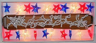 4th of July Star String Lights Patriotic Red White Blue Party Decoration 20 Ct-