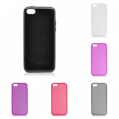 For Apple iPhone 5C Case TPU Rubber Slim Thin Phone Flexible Durable Cover