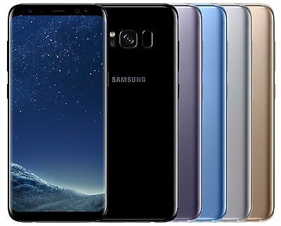 Samsung Galaxy S8- G955FD Dual Sim FACTORY UNLOCKED 6-2 Black Gold Gray Pink