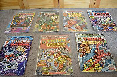 Vintage Marvel Comic Books - The Thing - Lot of 7