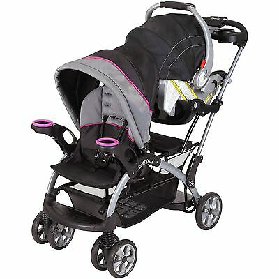 Sit And Stand Stroller Infant - Toddler Double Travel System Storage Baby Trend