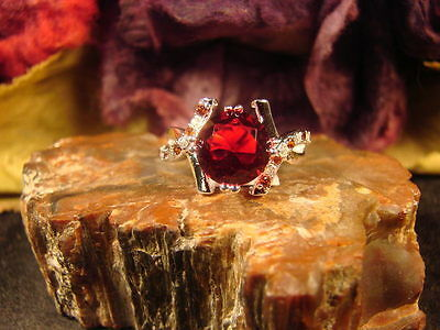 BEAUTIFUL 925 GARNET RING - WITCH WRITTEN PROTECTION SPELL SCROLLMETAPHYSICAL