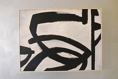 Strong Pastiche oil painting on canvas Franz Kline 18 x 24