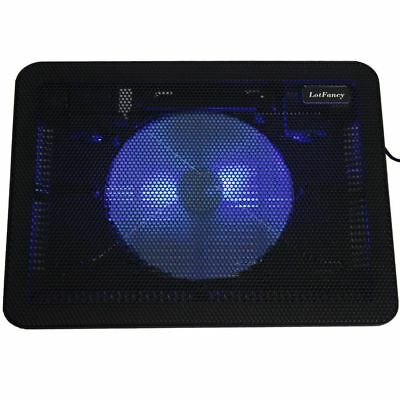 Laptop Cooling Pad Cooler Chill Mat 2 Fan 2 Led Light for 11 - 15  Notebook