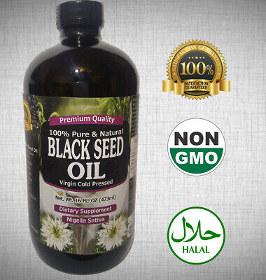 100 Pure Black Seed Oil Edible Cold Pressed Cumin Nigella Sativa Non GMO