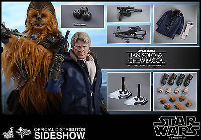 HOT TOYS STAR WARS THE FORCE AWAKENS HAN SOLO - CHEWBACCA 16 FIGS SET TFA NEW