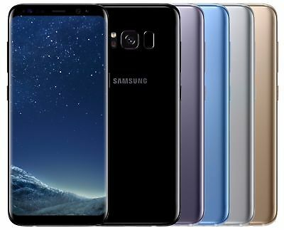 Samsung Galaxy S8 SM-G950FD Dual Sim FACTORY UNLOCKED Black Gold Gray Blue