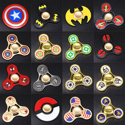 100 Style Tri Fidget Spinner Toy Metal Hand Finger EDC Focus Desk Toy Gyro