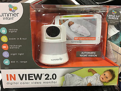 Summer Infant In View 2-0 Video Baby Monitor 29650 Brand New