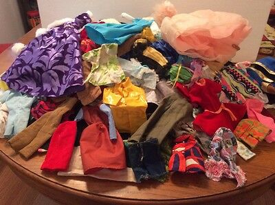 Doll Clothes Vintage Mostly Barbie Ken Some For Other Dolls Nice Lot 2-75lb